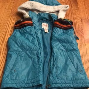 Turquoise Patterned Vest